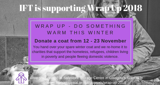 Do something warm this winter – IFT support Wrap Up 2018 campaign